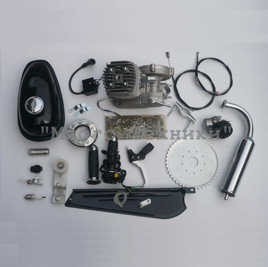 Мотокомплект для велосипеда с двухтактным веломотором ременной передачей 2