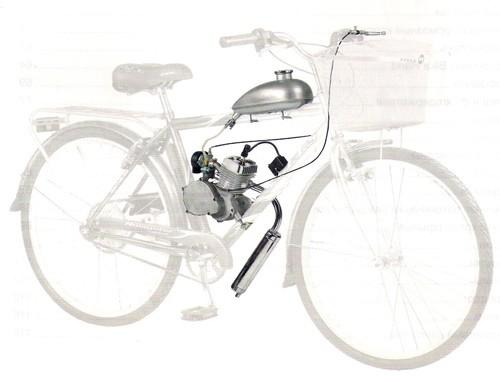Мотокомплект для велосипеда с двухтактным веломотором ременной передачей