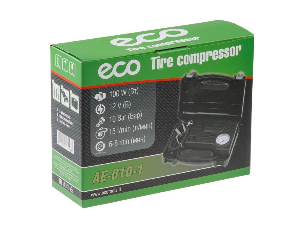 Купить Компрессор автомобильный ECO AE-010-1 (15 л/мин, 10bar, 100Вт, 12В)