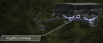 подрессорник автомобильного прицепа трансформера