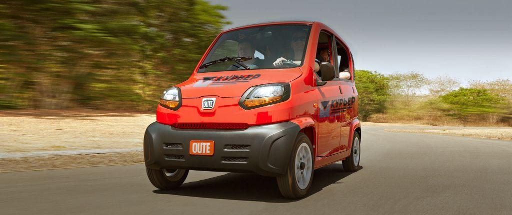 BAJAJ Qute авто для курьерских служб
