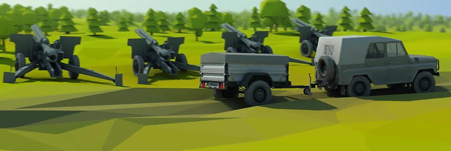 автомобильный прицеп для военной армии
