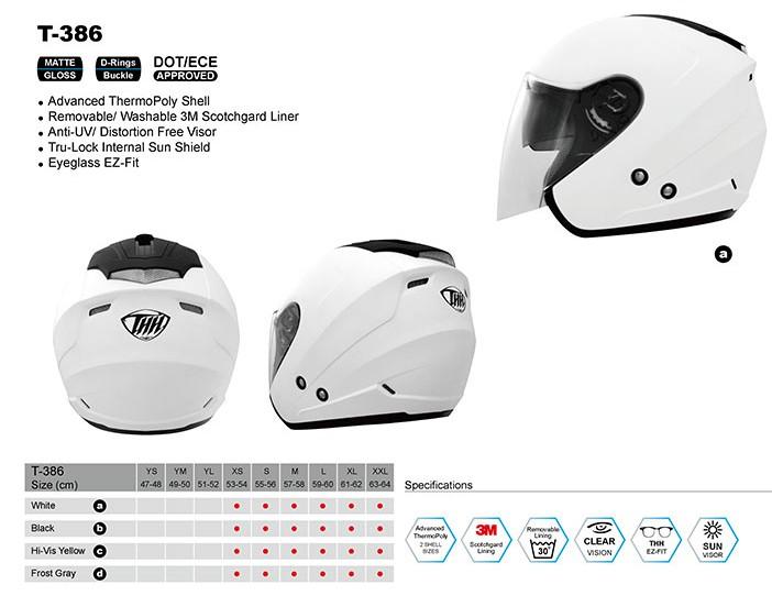 Шлем THH T-386 WHITE