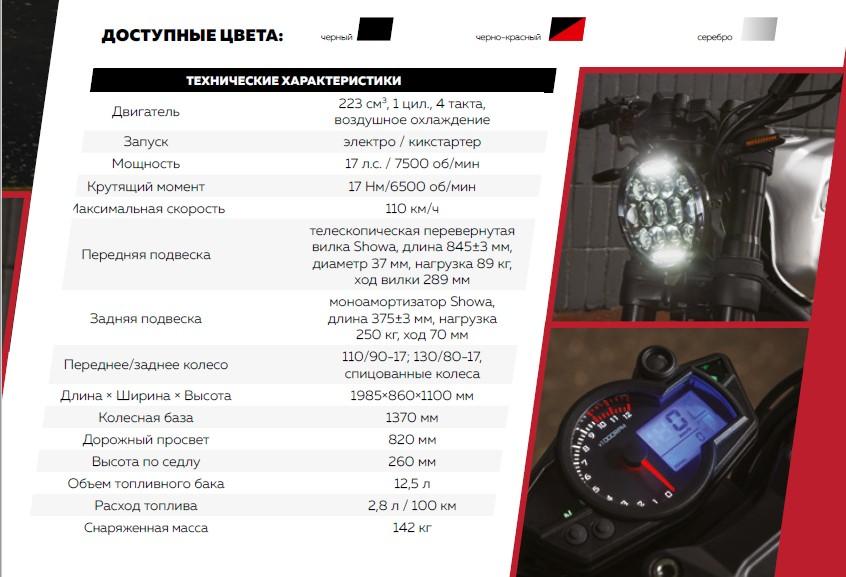 SCR 250 характеристики