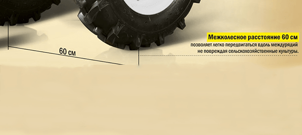 Мотоблок FERMER FM-1617MXL межколёсное расстояние 60 см