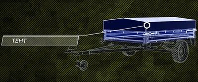 тент автомобильный прицеп трансформер